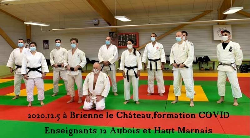 2020.12.5  Ce Samedi à Brienne le Château,2eme journée de formation COVID organisée par la Ligue Grand Est pour les Enseignants du secteur Aubois et Haut Marnais soit 12 participants.